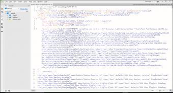 Screenshot of XML code from Blogger template in Dreamweaver.