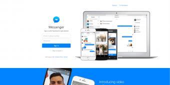 Screenshot of Facebook Messenger
