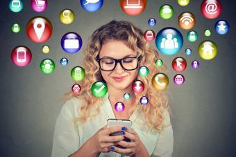 using smartphone for social media