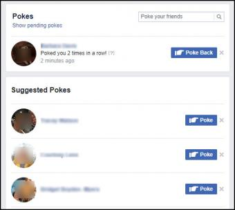 The poke page in Facebook