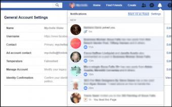 A screenshot of a notification you have been poked on Facebook