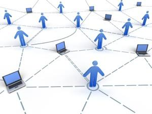 Concept image of people connecting via the internet
