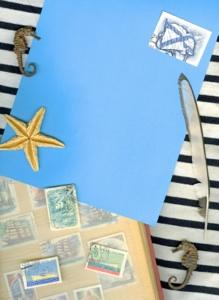 Scrapbooking elements for a blog