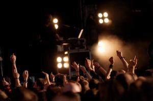 Crowd Enjoying a Concert