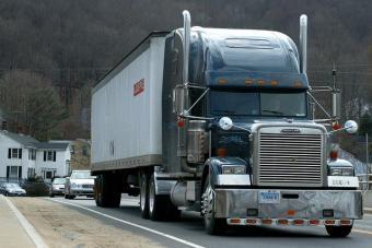 truck over bridge