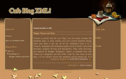 Screenshot of New Cafe Blog taken by LoveToKnow.com