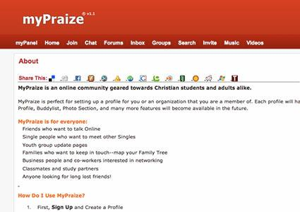 Screenshot of MyPraize website