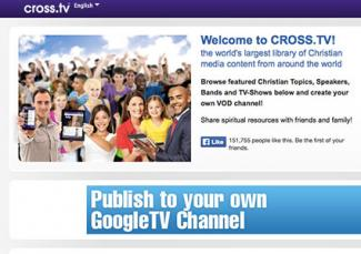 Screenshot of Cross.tv website