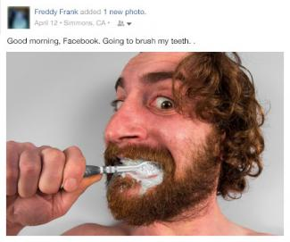 Bad brushing teeth Facebook post