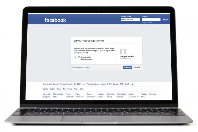 Facebook login error