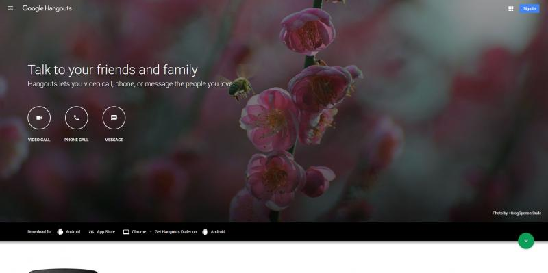 Screenshot of Google-Hangouts