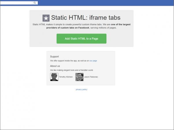 Screenshot of Static HTML iFrame Tabs
