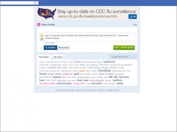 Screenshot of Status Shuffle