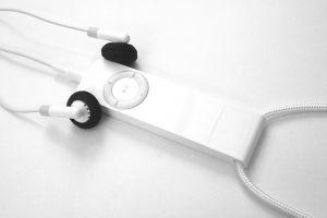 An iPod shuffle used to play Podcasts