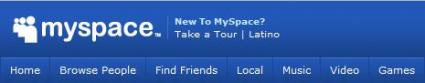 The MySpace Header