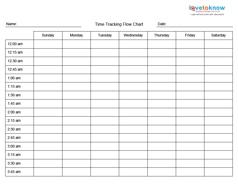 photo about Time Management Printable named Printable Year Manage Charts LoveToKnow