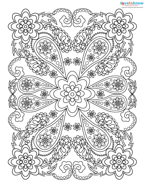 - Adult Coloring Pages For Stress Relief LoveToKnow