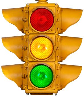 A traffic light is a useful tool for managing anger.