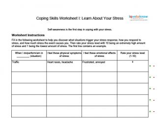 Coping with Stress Worksheet I