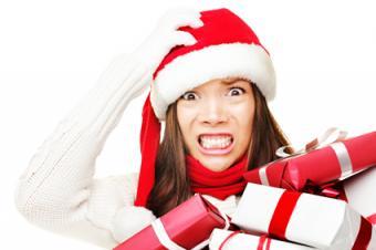 Woman feeling holiday stress