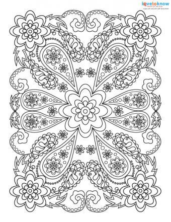 Rectangular coloring page design.