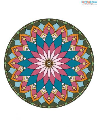 Free Mandala Designs to Print 2 color