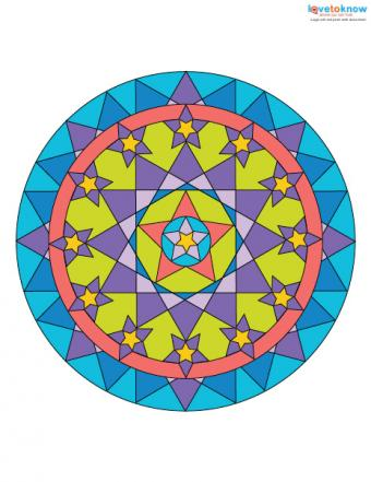 Free Mandala Designs to Print 3 color