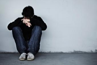 young man looking sad