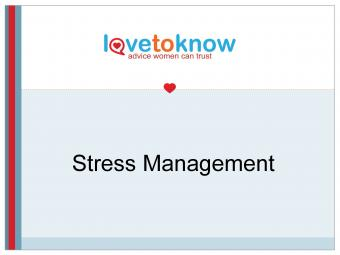 Stress Management PowerPoint Main Slide