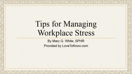 Stress Management PowerPoint