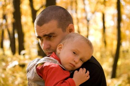 Sad Father and Son