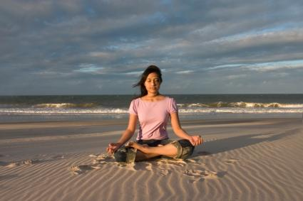Meditating on a Beach
