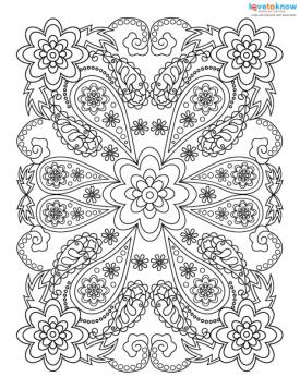 Rectangular coloring page design.