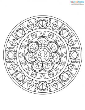 Adult coloring pages for stress relief lovetoknow for Stress relief coloring pages online