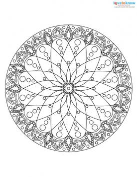 Abstract coloring page design