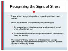 Recognizing the signs of stress