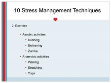 Stress Management through exercise