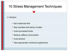 Stress management through nutrition