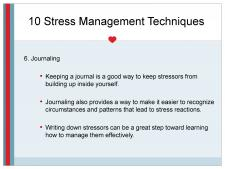 Stress management through journaling