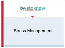 Stress Management PowerPoint Main Slide