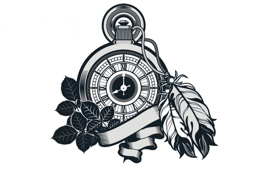 Line Art Tattoo Designs : Pocket watch tattoo designs lovetoknow