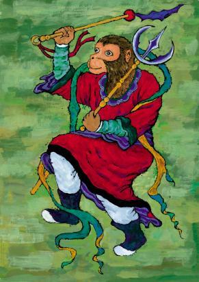 Chinese Monkey Tattoo