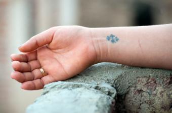 Inner Wrist Coptic Cross Tattoo