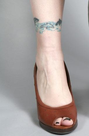dolphin anklet tattoo