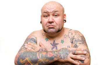 Man with Nautical Star Tattoo