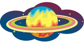 Colorful Saturn design; © Dannyphoto80 | Dreamstime.com