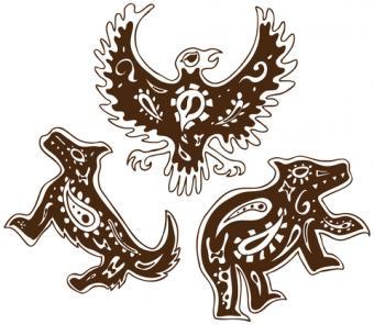 Wolf, eagle and bear Native American tribal animal symbols; © John Takai | Dreamstime.com