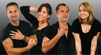Temporary paper tattoos from DecalPaper.com