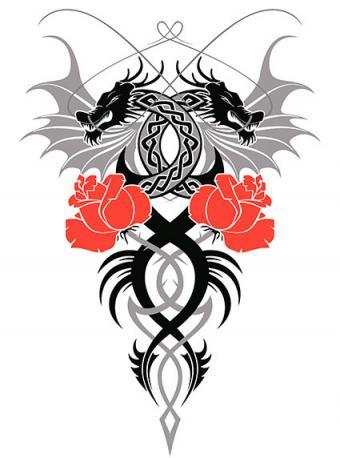 celtic dragons tattoo