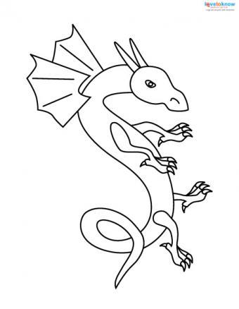 Dragon tattoo stencil